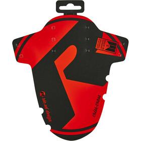 "Riesel Design criss:cross Voorspatbord 28"", zwart/rood"